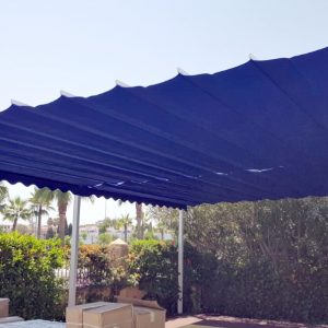 Toldo Pérgola color azul